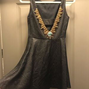 Anthropologie Necklaced Mini Dress